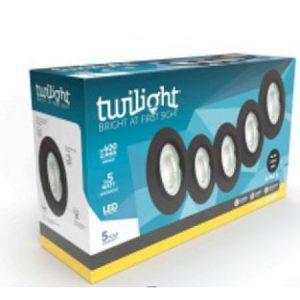 TWILIGHT LED INBOUWSPOT NEO 5W DIMBAAR ZWART 5-PACK