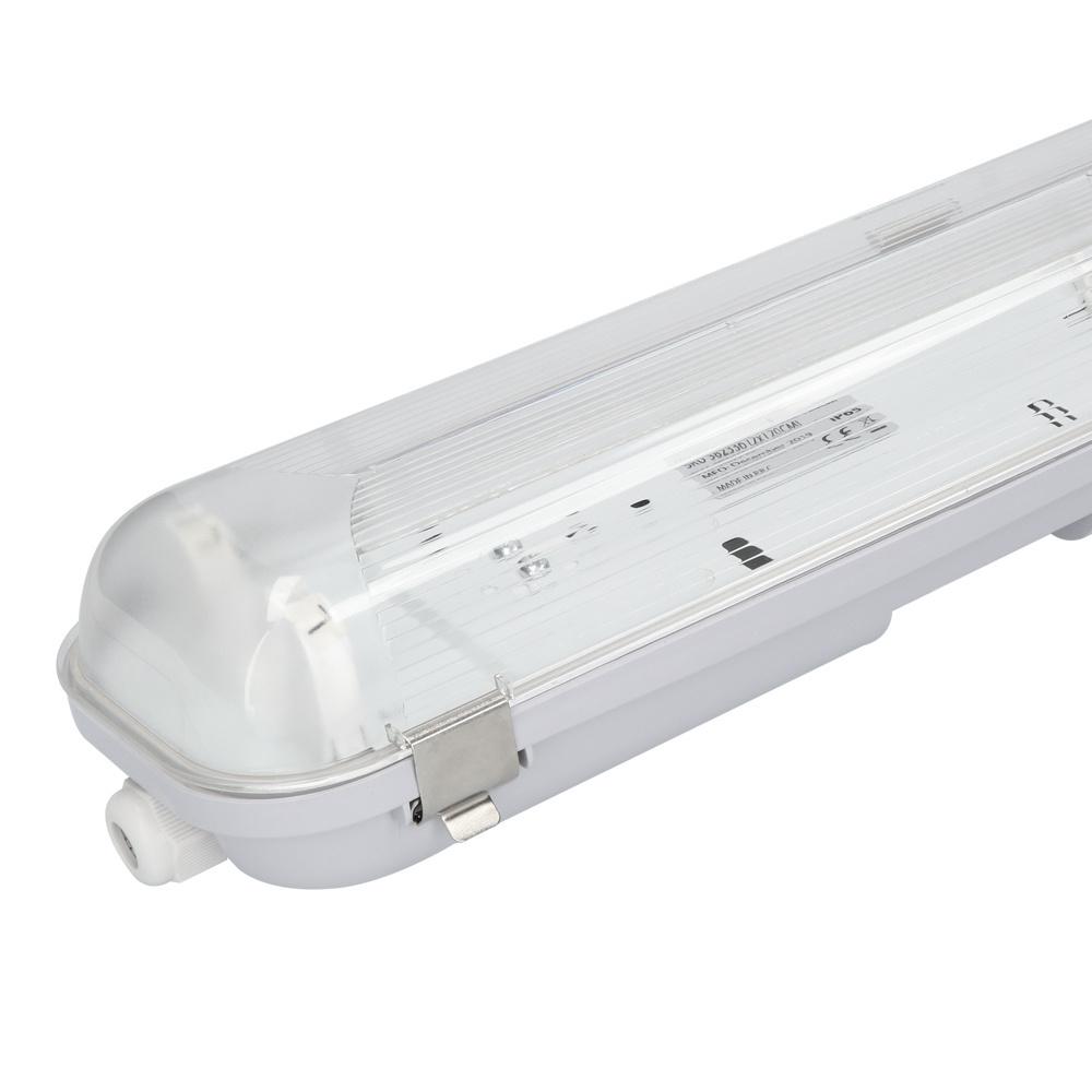 TL armatuur zonder LED dubbelvoudig IP65 - 150cm