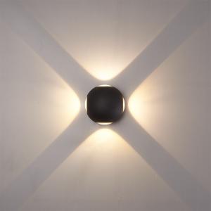 LED WANDLAMP AUSTIN 4W 4-LICHTS IP54 ZWART