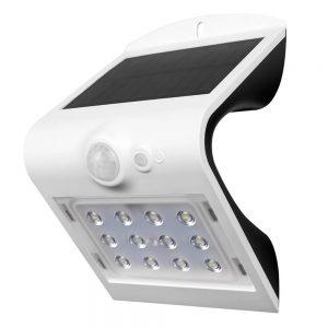 LED SOLAR WANDLAMP 1,5W MET 2-IN-1 SENSOR WIT