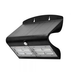 LED SOLAR WANDLAMP 7W MET 2-IN-1 SENSOR ZWART