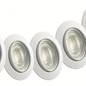 TWILIGHT LED INBOUWSPOT NEO 5W DIMBAAR WIT 5-PACK