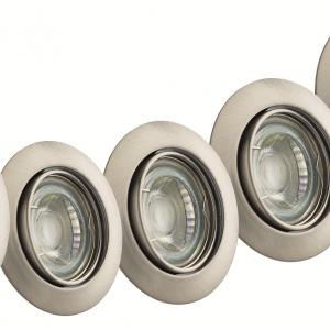 TWILIGHT LED INBOUWSPOT NEO 5W DIMBAAR GRIJS 5-PACK