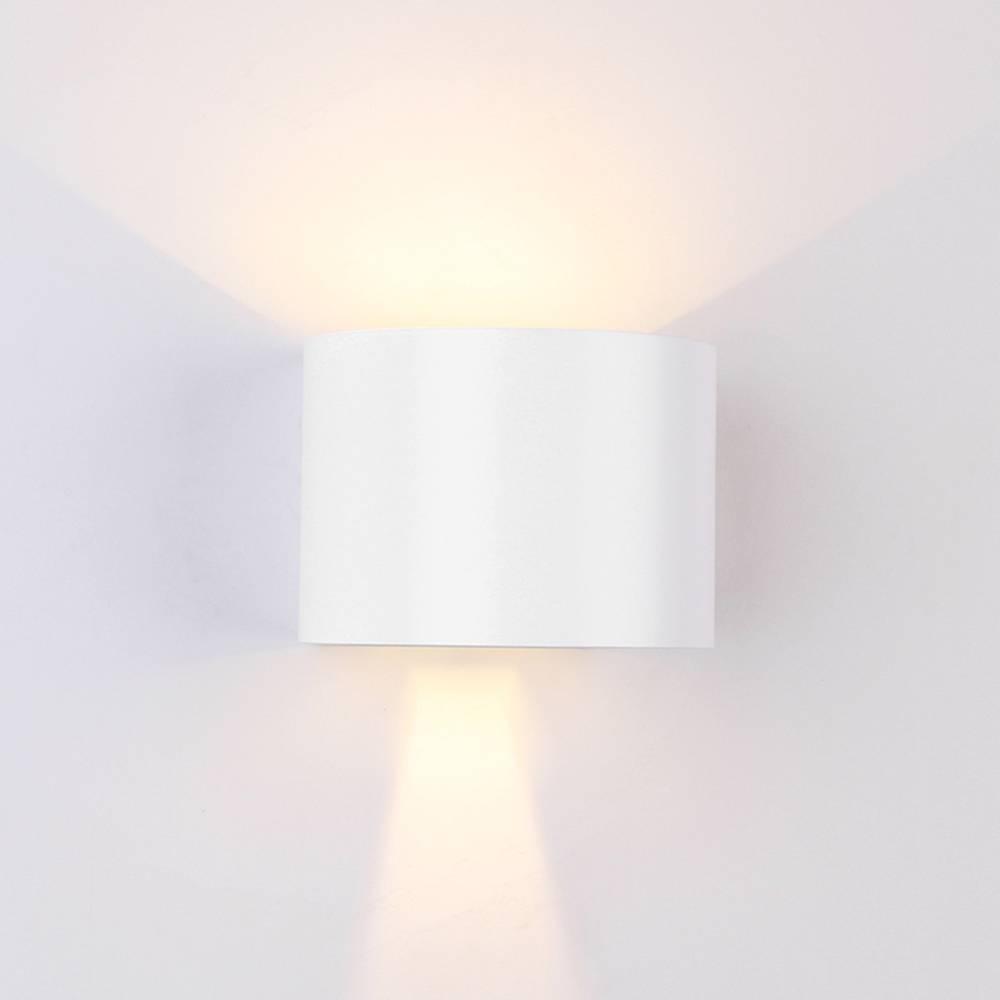 LED WANDLAMP ROND 6W IP54 WIT