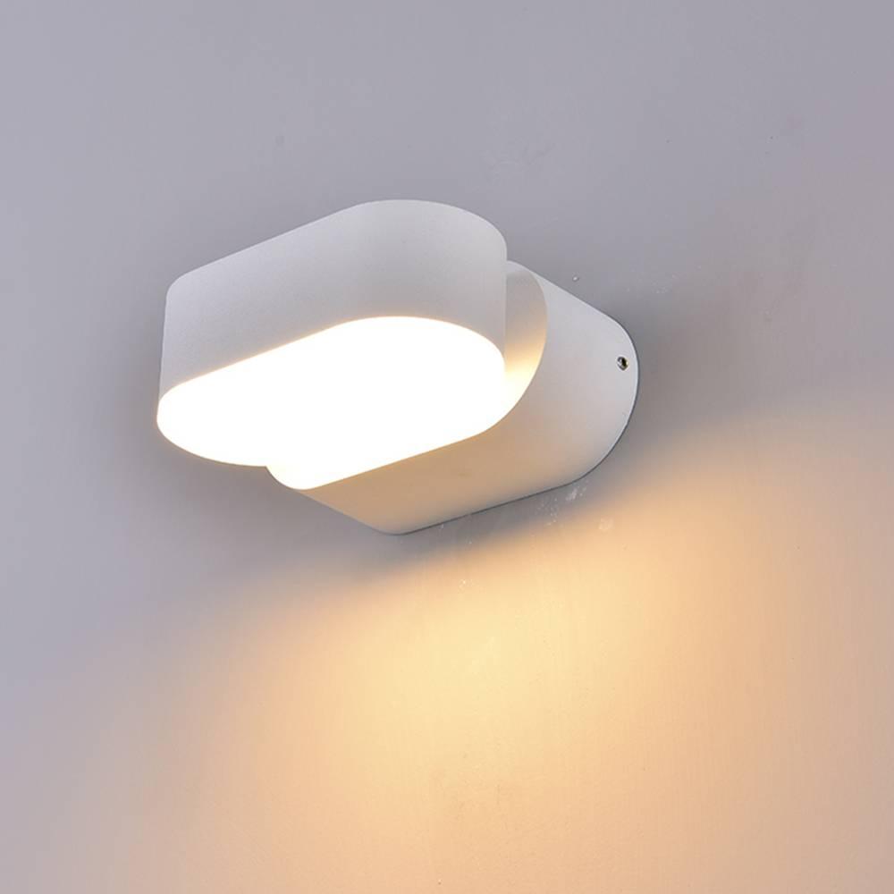 LED WANDLAMP KANTELBAAR 6W IP54 WIT